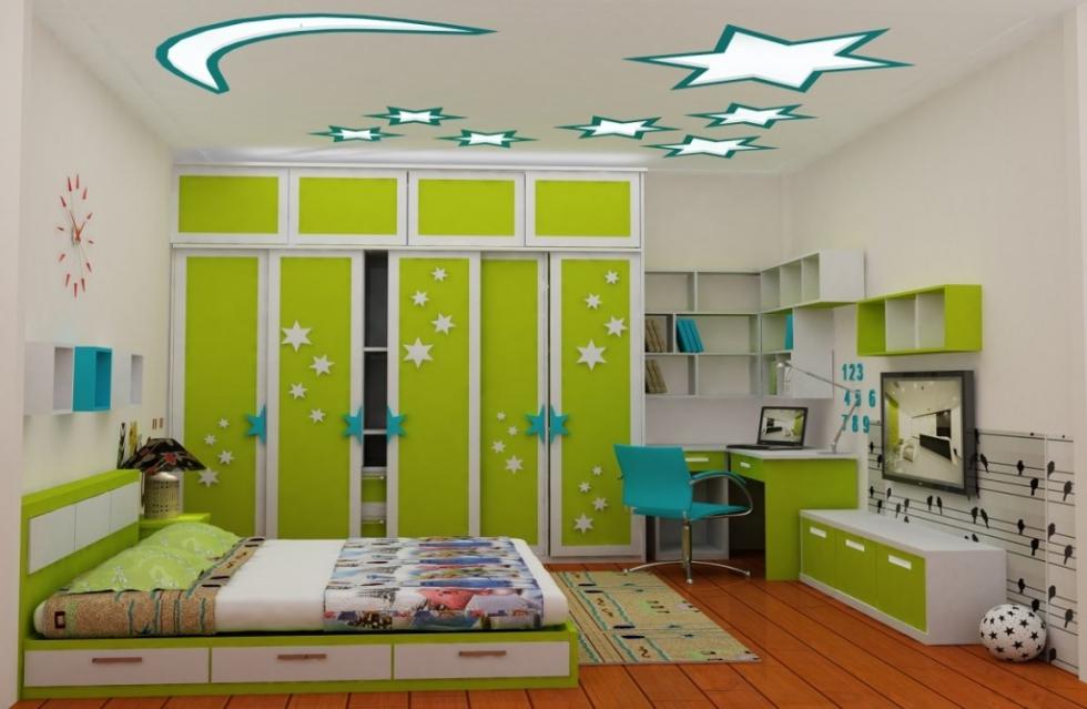 Trong phòng trẻ em, nội thất đảm bảo luôn được thiết kế sáng tạo, khoa học nhất