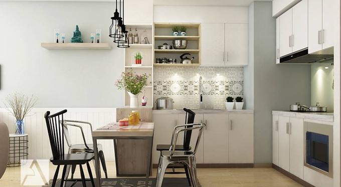 5 ý tưởng thiết kế nội thất nhà bếp chung cư nhỏ đẹp và tiện nghi.