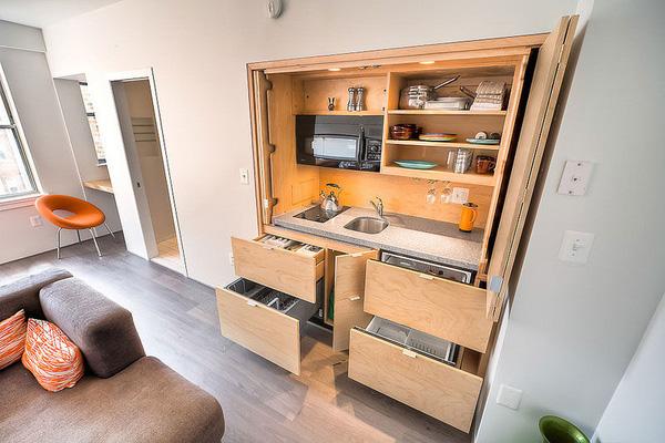 Thiết kế, bố trí nội thất nhà bếp, phòng bếp cho căn hộ nhỏ xinh