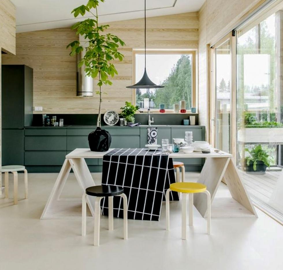Nhà bếp gần gũi với thiên nhiên