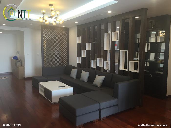 Nội thất phòng khách sang trọng của căn nhà chung cư cap cấp số 6