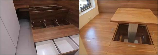 Sử dụng nội thất có phần ngăn lưu trữ đồ