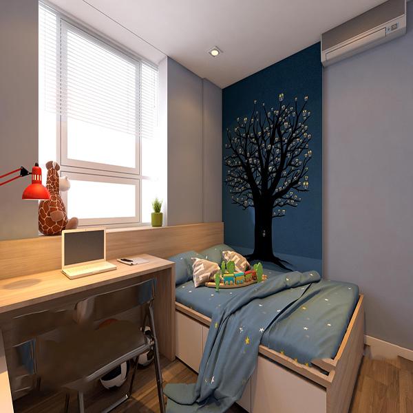 Phòng ngủ cho trẻ đơn giản nhưng không đơn điệu