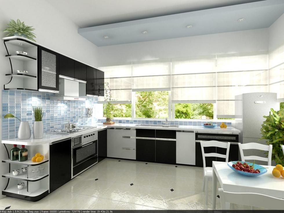 Nhà bếp gần gũi với thiên nhiên ảnh 2