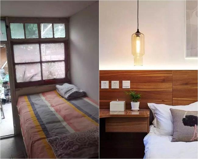 Phòng ngủ trước và sau khi cải tạo
