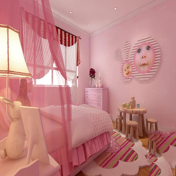 Phòng ngủ cho bé gái yêu màu hồng và thích làm công chúa