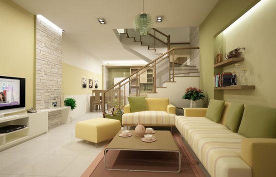 Màu sắc hài hòa tổng quan cho cả căn nhà