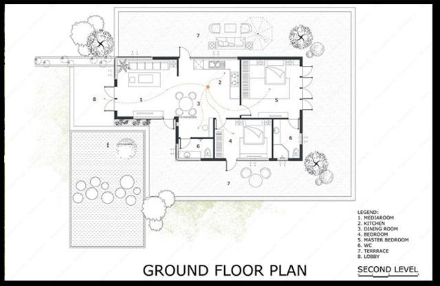 bản vẽ chi tiết căn nhà xây với chi phí 350 triệu