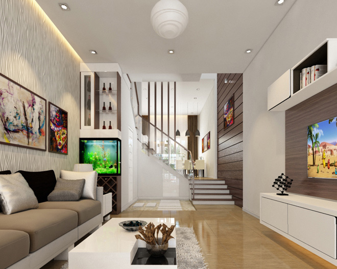 Thiết kế nội thất nhà lô phố cần tạo sự hài hòa từ màu sắc đến đồ đạc trong phòng