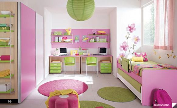 Màu hồng tạo cảm giác tươi tắn, dịu dàng trong phòng ngủ bé gái