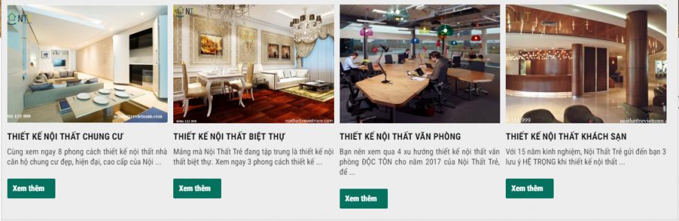 Nội thất trẻ Việt Nam - đơn vị tư vấn thiết kế cho nhiều công trình nhà ở uy tín
