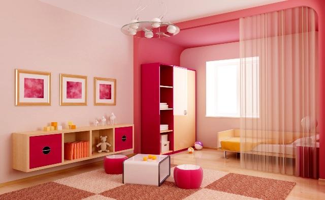 Thiết kế nội thất cho trẻ em cần quan tâm tới màu sắc