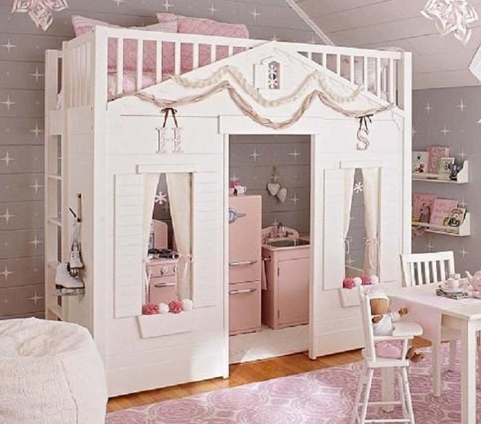 Thiết kế phòng vui chơi cho bé gái