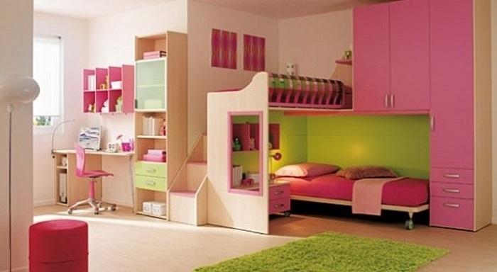 Cách trang trí phòng chơi cho trẻ kết hợp phòng ngủ