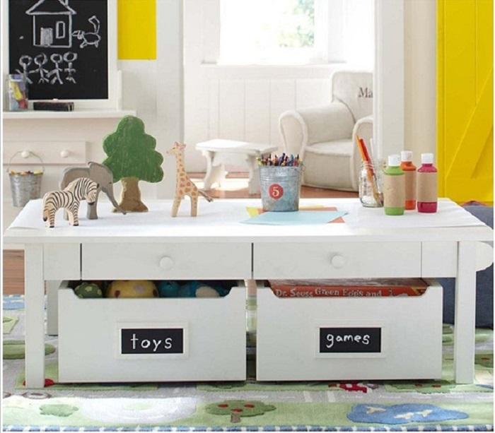 Trang trí góc vui chơi cho bé bằng cách phân loại đồ chơi, rèn luyện tính gọn gàng