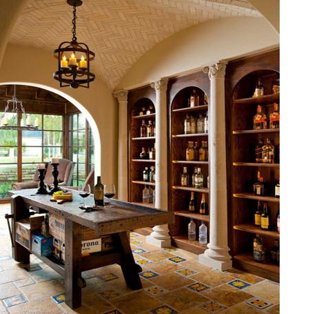 Khu vực hầm rượu ấm cúng và thân mật