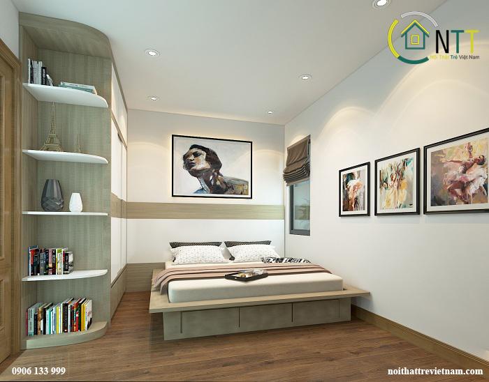 shop giường ngủ gỗ có ngăn kéo chứa đồ
