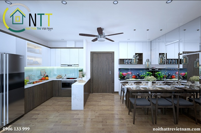Nội thất tủ bếp gỗ siêu chống ẩm