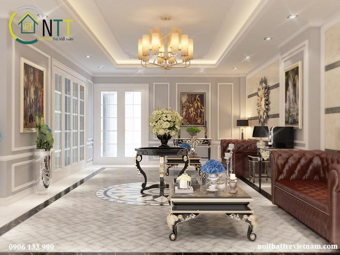 Trong thiết kế những căn hộ cao cấp không thể không nhắc tới phong cách tân cổ điển