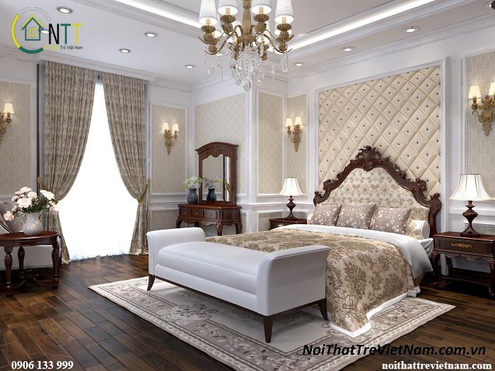 Nội thất phòng ngủ đầy đủ tiện nghi