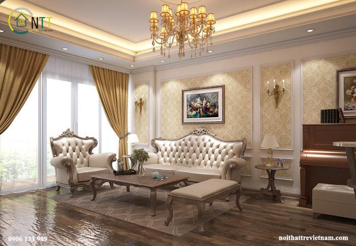 Phòng khách đặt chiếc piano - món đồ thường thấy ở những căn hộ cao cấp
