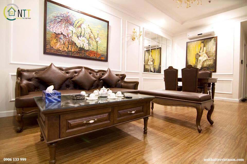 Đồ gỗ nội thất chung cư Times City này sử dụng sơn INCHEM của Mỹ loại sơn chất lượng hàng đầu hiện nay