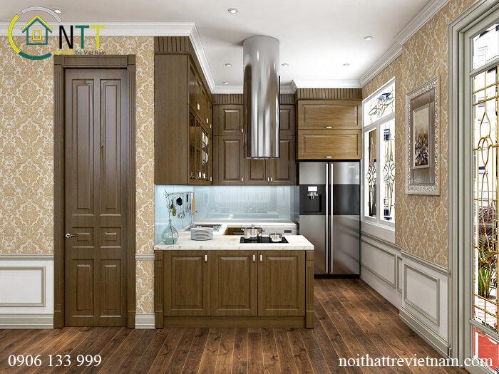 Phòng bếp biệt thự tân cổ điển