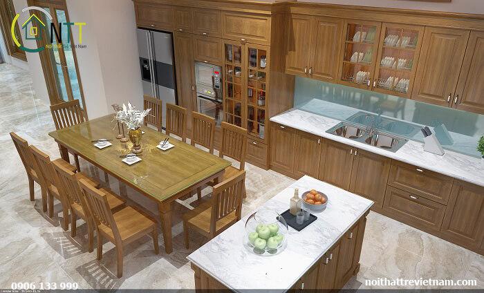 Phòng ăn và bếp nhà phố