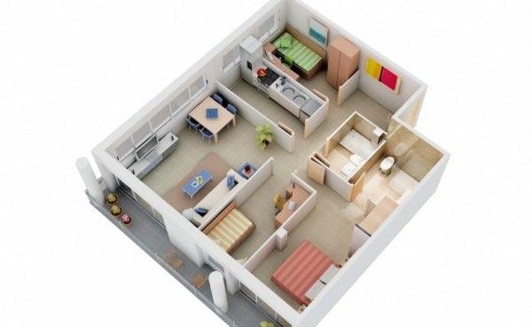 Bố trí các phòng trong căn 80m2
