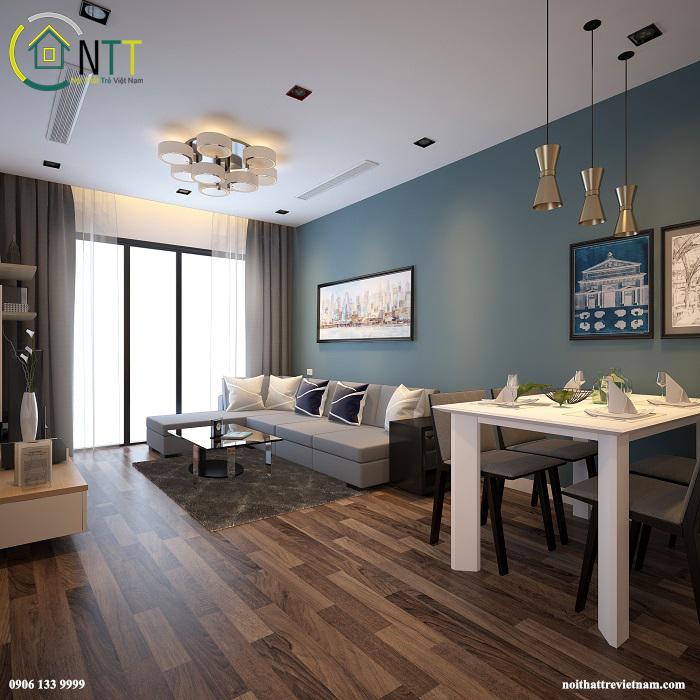 Mẫu thiết kế nội thất chung cư HH Bộ Công An – 43 Phạm Văn Đồng