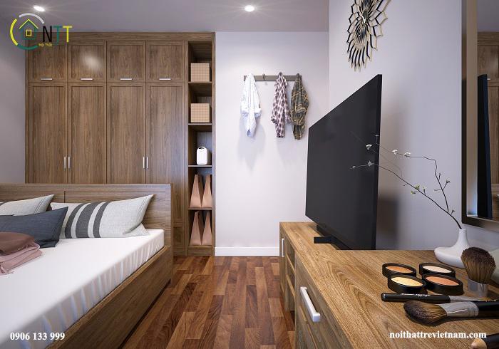 Thiết kế nội thất phòng ngủ master căn hộ Seasons Avenue