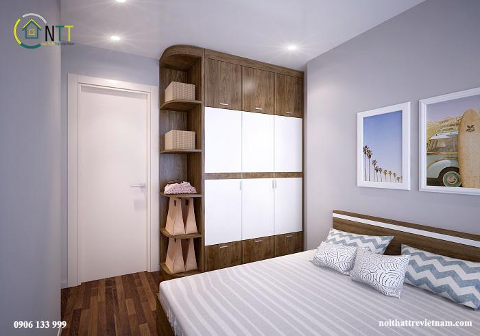 Nội thất phòng ngủ 2 căn hộ của chị Nụ