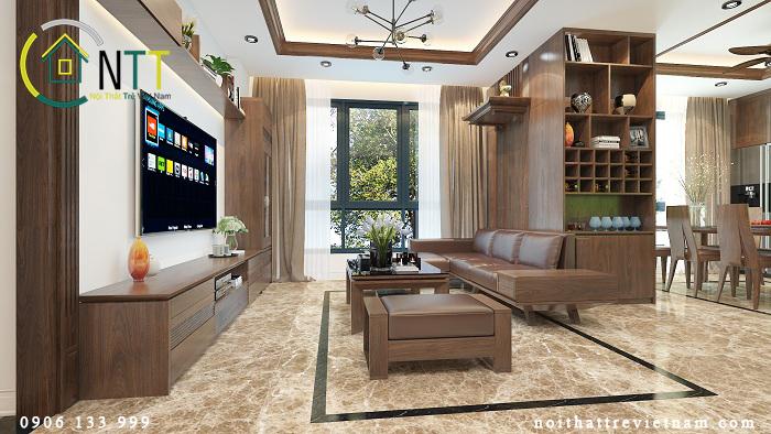  Mẫu thiết kế nội thất chung cư chị Thủy – Kim Khí Thăng Long – số 01 Lương Yên