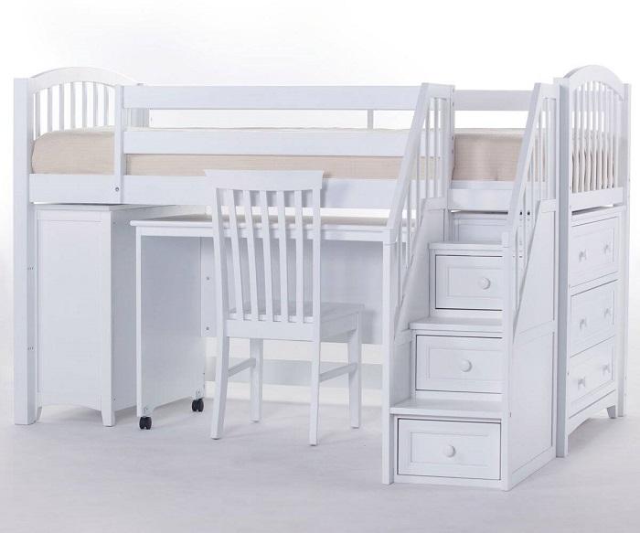 Mẫu 15 - Giường 2 tầng cho người lớn đẹp kết hợp cả bàn học