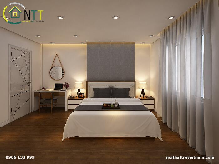 Nội thất phòng ngủ chung cư 70m2 hiện đại