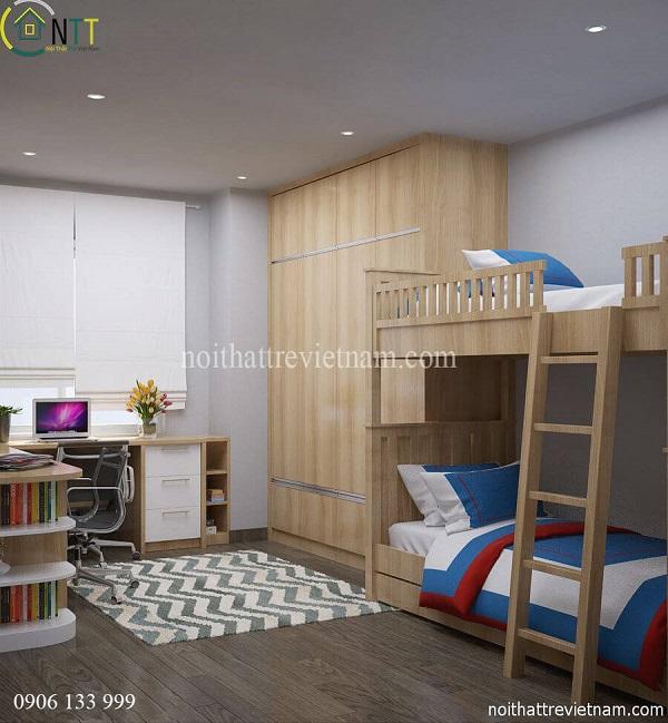 Mẫu 16 - Giường tầng cho bé trai và gái