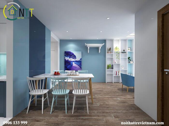 Căn hộ chung cư đẹp với màu sắc trẻ trung
