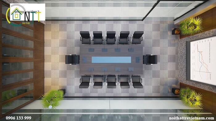 Thiết kế đơn giản  để tạo không gian thoáng cho phòng họp nhỏ