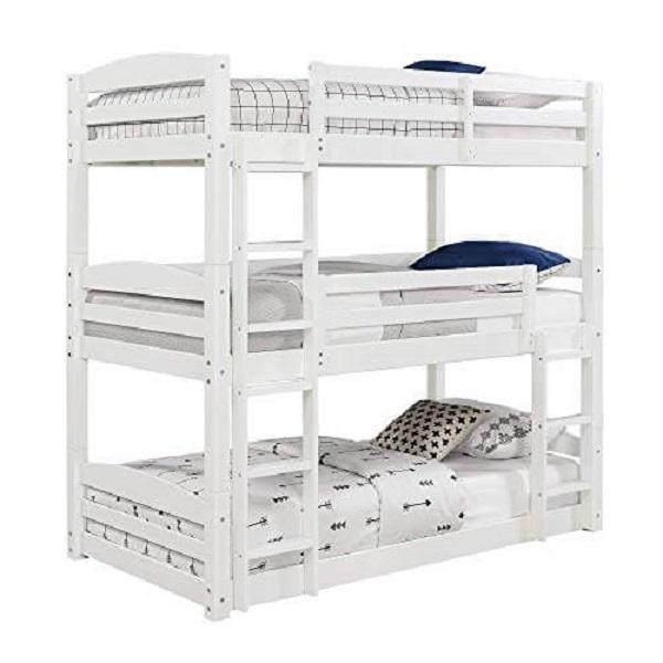 Mẫu 49 - Giường 3 tầng màu trắng