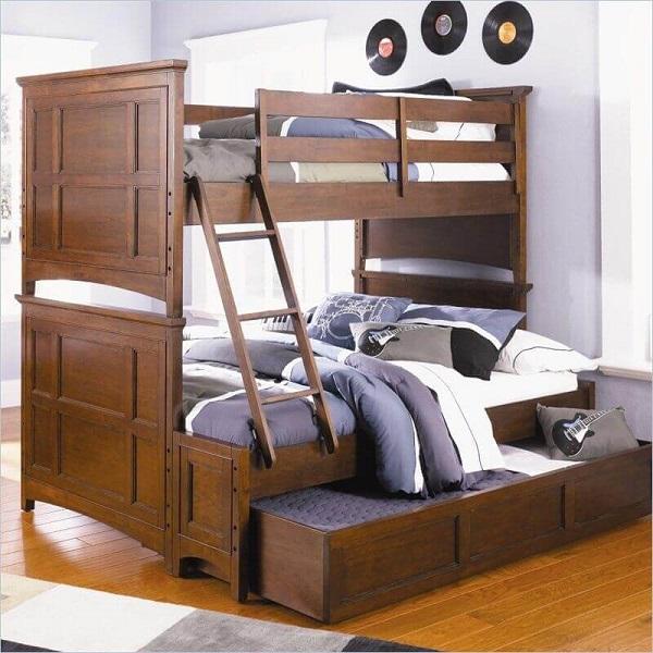 Mẫu 47 - Giường 3 tầng gỗ