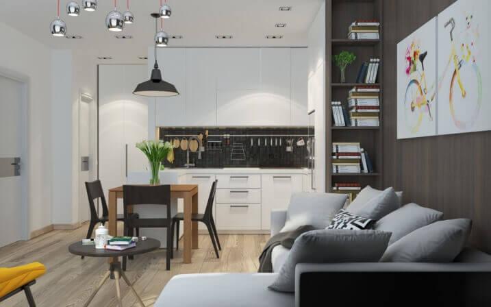 Cách trang trí căn hộ chung cư 50m2