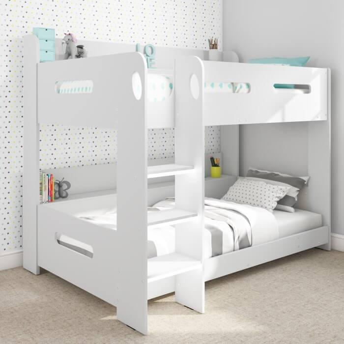Mẫu 8 - Giường tầng bằng gỗ màu trắng đẹp cho người lớn