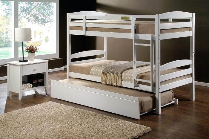 Mẫu 6 - Giường tầng đơn giản mà đẹp cho người lớn bằng gỗ