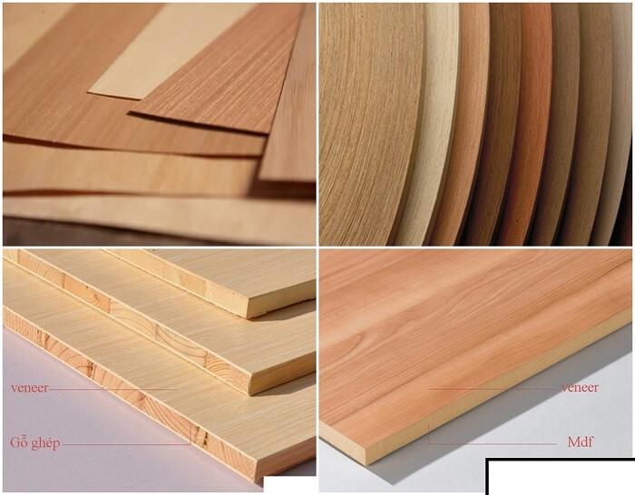 Cốt gỗ MDF phủ veneer và gỗ ghép phủ veneer