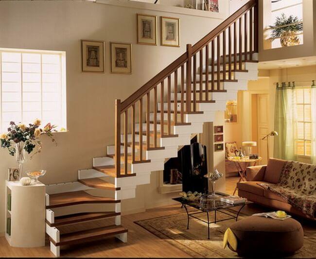 Mẫu cầu thang nhà ống 2 tầng kiểu đơn giản mà đẹp