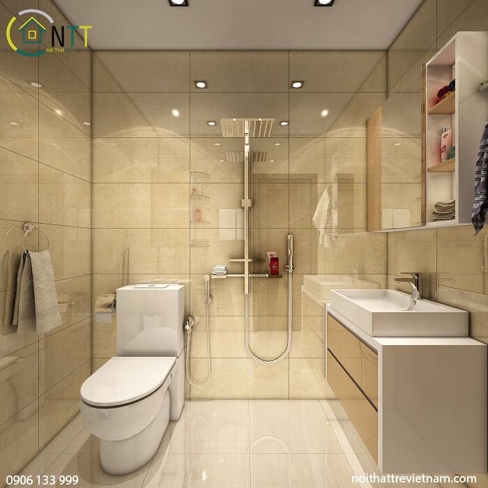 Nhà vệ sinh được bố trí họp lý