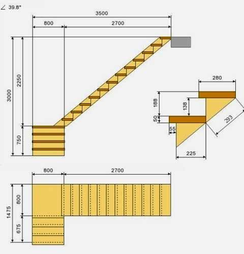 bản vẽ cầu thang nhà ống
