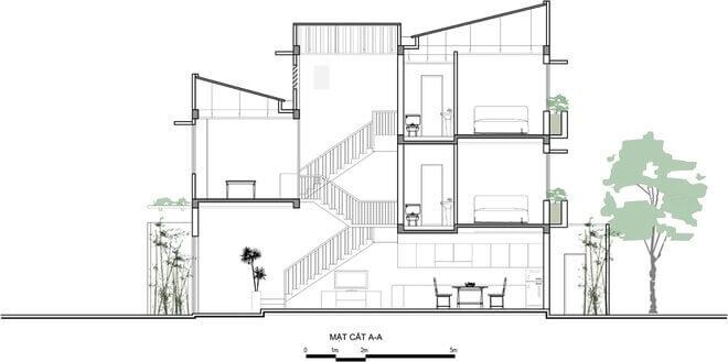 bản vẽ cầu thang nhà ống mẫu 4