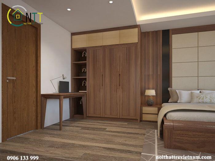 Không gian thân thiện với màu gỗ tự nhiên