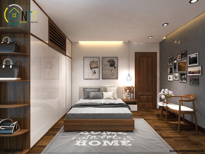 Trang trí phòng ngủ đẹp bằng ảnh, tranh treo tường